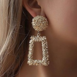 Gold Doorknocker Earrings